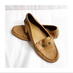 Coach Leather Slip On Frederica Loafer Cognac 8.5